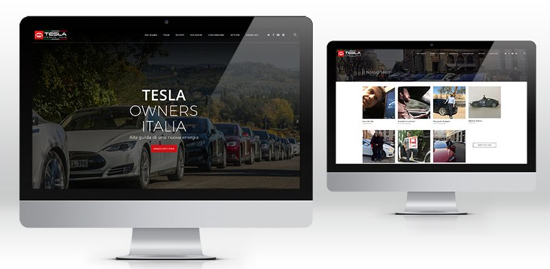 Creazione siti web milano Tesla