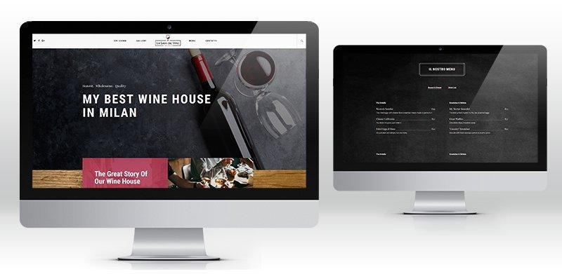 Creazione sito web wordpress vineria milano
