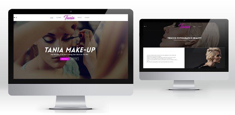 Creazione sito web wordpress makeup artist