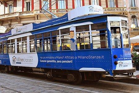 Personalizzazione Tram Milano Milanostanze.it