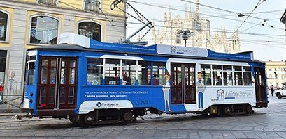 grafica tram milano
