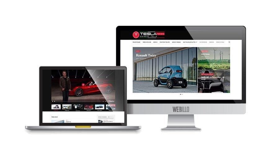 Creazione magazine on line wordpress Tesla