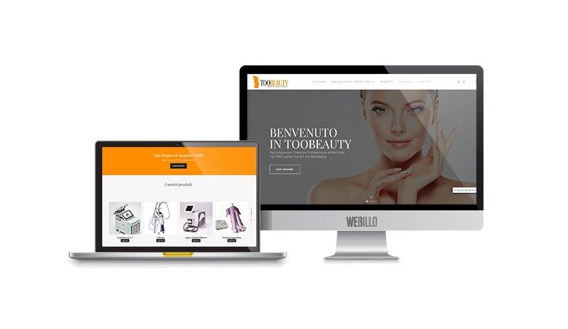 Creazione sito e-commerce prodotti di bellezza